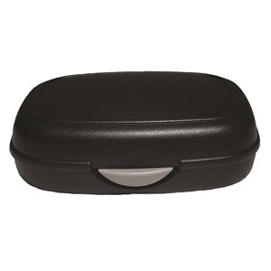 Hearing Aid Case with Push Button Opening - Plastic, Black