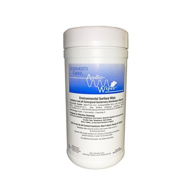 AudioWipes Towelettes - large canister (160 wipes)