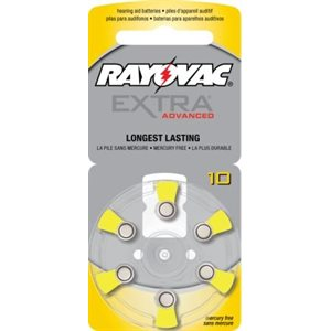 Rayovac Extra Advanced ZM Batteries, size 10 (10 cards of 6 batt)
