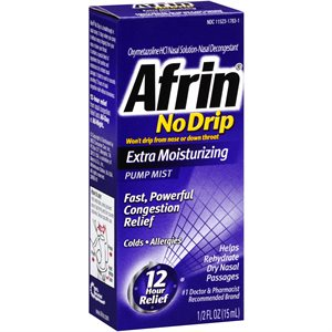 Afrin No Drip Extra Moisturizing Nasal Spray (15ml bottle)