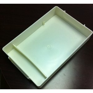 "Plastic Storage Tray with Small Divided Compartment, Ivory (6""x9""1.5"")"