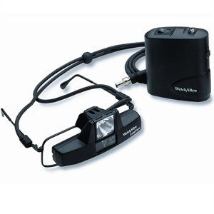 Welch Allyn LumiView Headlight, eyeglass mount with battery pack