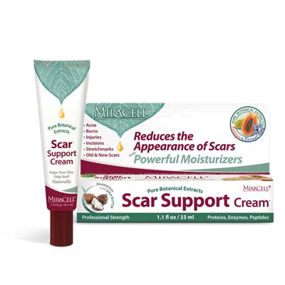 MiraCell Scar Support Cream 1.1 oz St. Ives Collagen Elastin Facial Moisturizer, 10 oz
