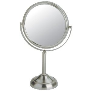Table Top Two-Sided Pedestal Mirror, 5X Magnification (JP916C)