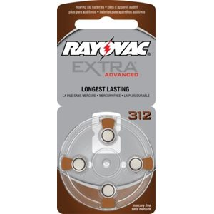 Rayovac Extra Advanced ZM Batteries, size 312 (10 cards of 4 batt)