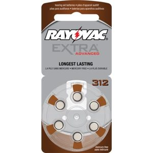 Rayovac Extra Advanced ZM Batteries, size 312 (10 cards of 6 batt)