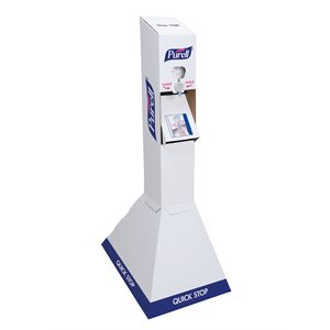 ** Purell Quick Floor Stand Kit - Includes Display & (2) 1000ml Hand Sanitizer Gel Bags