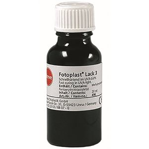 Dreve Fotoplast Lacquer,  20ml bottle with brush cap
