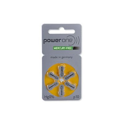 Power One MF Batteries, size 10  (10 cards of 6 batt)