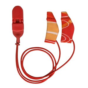 Ear Gear Mini Binaural Corded (Red / Orange)
