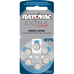 Rayovac Extra Advanced ZM Batteries, size 675 (10 cards of 6 batt)