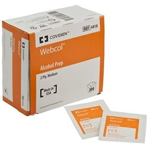 ** Webcol (Formerly Kendall) Alcohol Prep Pads (200 / box)