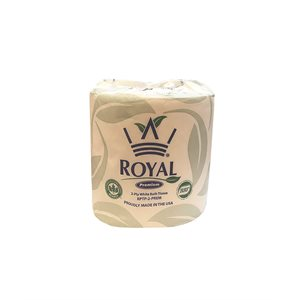 Royal Papers Toilet Paper - 2 Ply, White (1 roll)