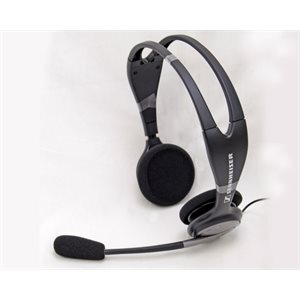 Operator Headset (PC3) for Use with Most Audiometers (2 x 3.5mm jacks)