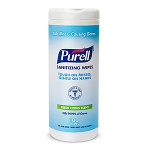 UNAVAILABLE - Purell Sanitizing Hand Wipes (100 / canister)