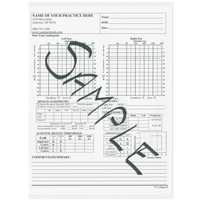 customized audiogram pad 50 sheets per pad