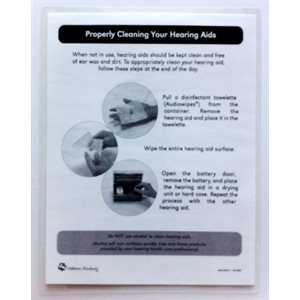 AudioWipes Laminated Instruction Sheet