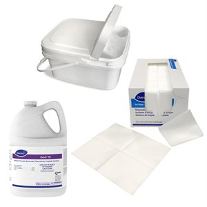 ** Diversey Dry Wipes Kit - Includes Oxivir TB Disinfectant, 500 Dry Wipes, Bucket / Lid