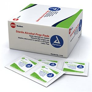 ** Alcohol Prep Pads, Sterile - Standard Size (200 / box)