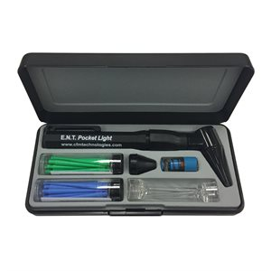 ENT Pocket Light Otoscope Set with Disposable Lighted Curettes & Wax Loops