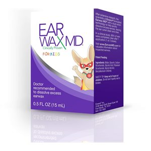 Earwax MD for Kids Take-Home Kit with Bottle (0.5 oz) & Bulb Syringe