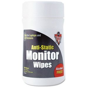 Anti-Static Monitor Wipes (80 / canister)