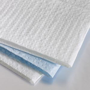 "Tray Covers - 13.5""x18"", 3-Ply, White Embossed (500 / box)"