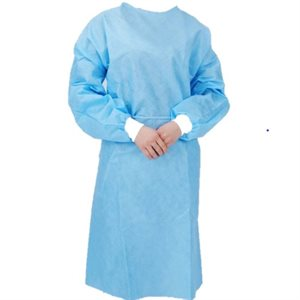 ** Isolation Gown - Non-Woven Polyester Blend, Blue Color (each)
