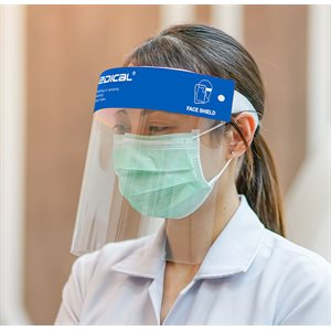 ** Face Shield - Clear, Elastic Band, Reusable (each)
