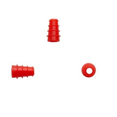 Sanibel ADI Series Single Use Flanged Eartips - Red, 3mm-5mm (100 / bag)