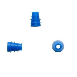 Sanibel Silicone Flanged Eartips - Blue, 4mm-7mm (100 / bag)