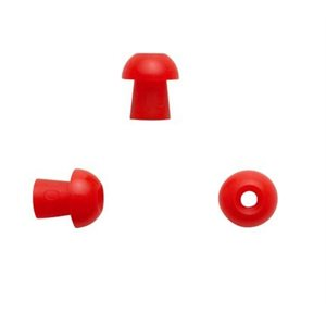 Sanibel Silicone Mushroom-Shaped Eartips - Red, 10mm (100 / bag)