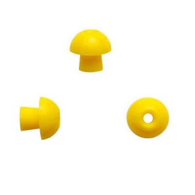 Sanibel ADI Series Single Use Mushroom-Shaped Eartips - Yellow, 12mm (100 / bag)