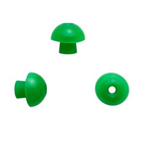 Sanibel Silicone Mushroom-Shaped Eartips - Green, 13mm (100 / bag)
