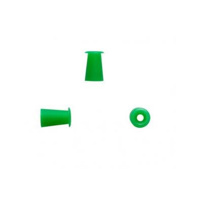 Sanibel ADI Silicone Umbrella-Shaped Eartips - Green, 7.5mm (100 / bag)