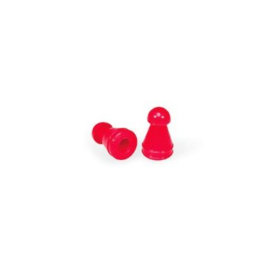 Grason KR Series Single Use Eartips - 8mm, Red (100 / pk)