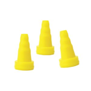 Grason KR Series Single Use Eartips - Cone-Shaped, 3-6mm, Yellow (100 / pk)