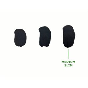 Hearing Aid Sweat Bands - Medium SLIM Black