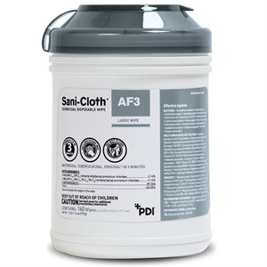 ** Sani-Cloth AF3 Alcohol-Free Disinfectant Disposable Wipes (160 / canister)