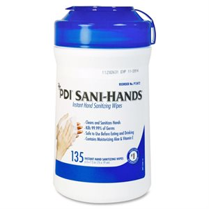 UNAVAILABLE - Sani-Hands Instant Hand Sanitizing Wipes (135 / canister)