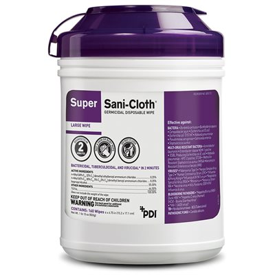 Super Sani-Cloth Disinfectant Wipe (160 / canister)
