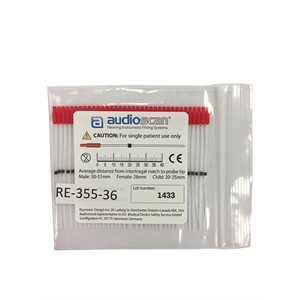 AudioScan Precision Probe Tubes with Marker Ring, red (36 / bag)