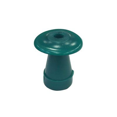 Grason Flat Style Single Use Eartips - 14mm, Green (100 / pk)