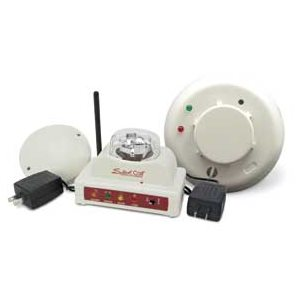 Silent Call Smoke Detector with Strobe Light