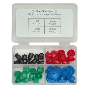 Single Use Eartip Set for Welch Allyn MicroTymp2 (10 ea size, 40 / set)