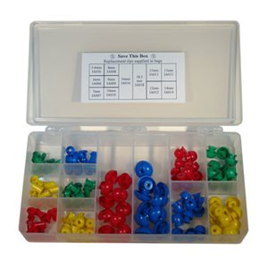 Grason IA Series Eartip Kit in Plastic Box - 120 / kit (10 ea excluding IA105 / 107 / 111)