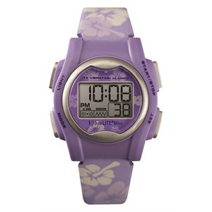 VibraLITE Mini  - Purple / White Floral, Leather Strap