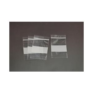 Plastic Zipper Bags, 2x2 with write-on block (100 / pk)