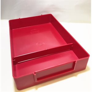 "Plastic Storage Tray with Small Divided Compartment, Red (6""x9""1.5"")"