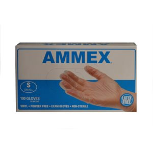 Exam Gloves-Vinyl, powder free (small)